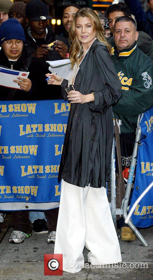 Ellen Pompeo and David Letterman 4