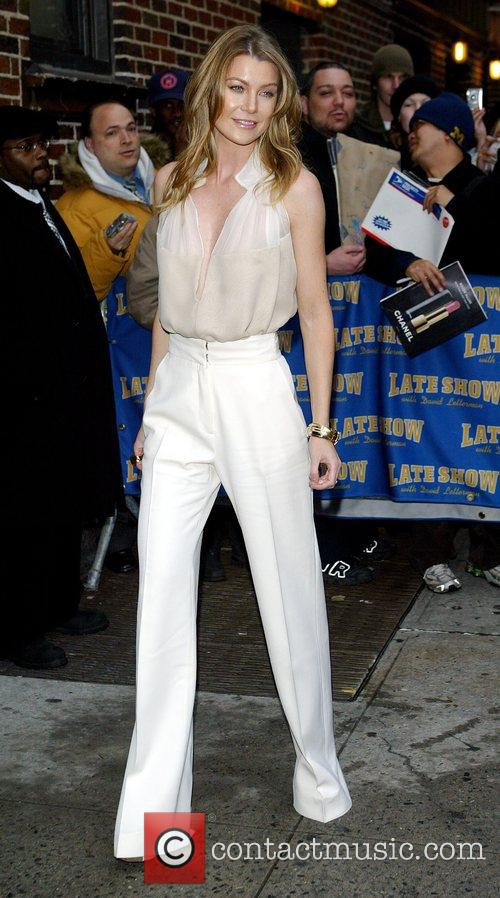 Ellen Pompeo and David Letterman 2