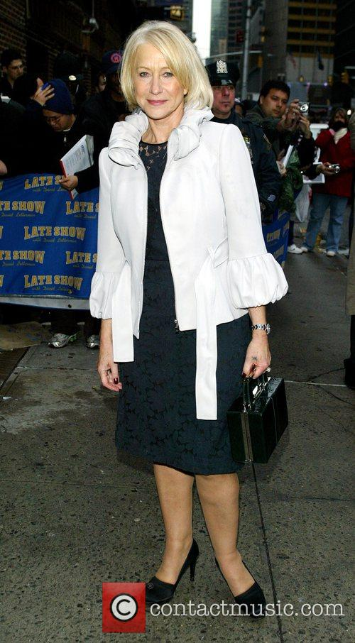 Helen Mirren and David Letterman 11