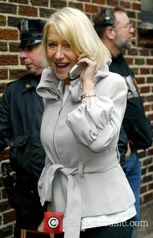 Helen Mirren and David Letterman 2