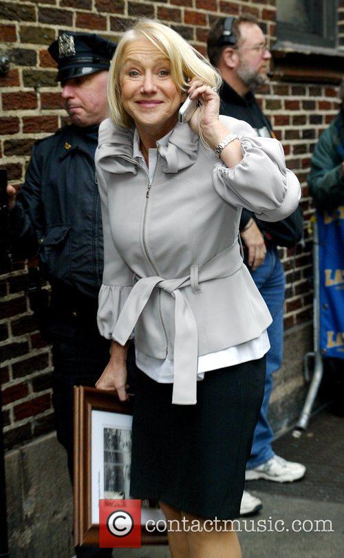 Helen Mirren and David Letterman 13