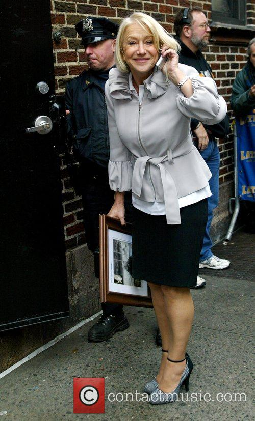 Helen Mirren and David Letterman 8