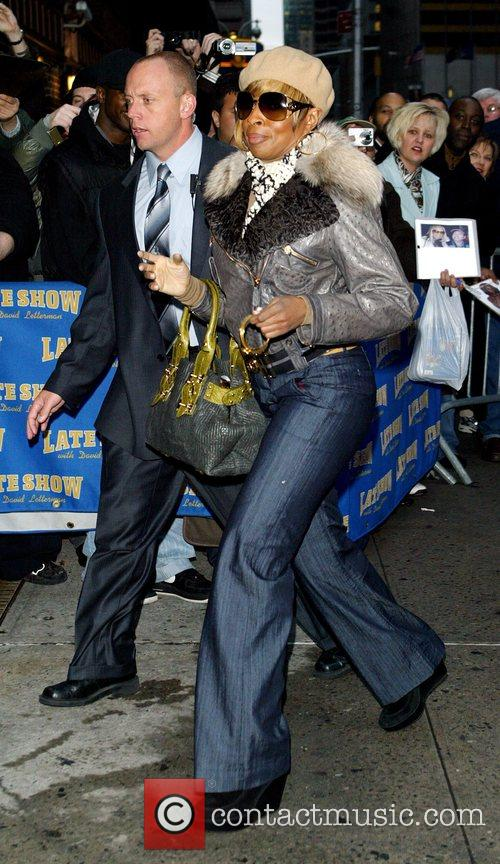 Mary J Blige, David Letterman