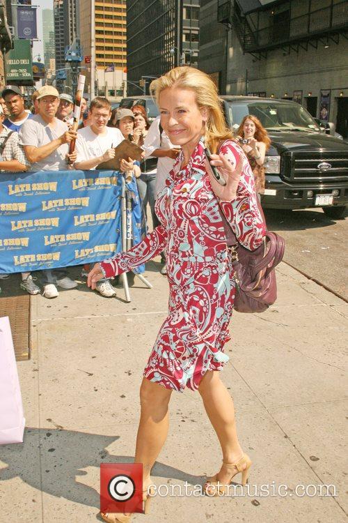 Chelsea Handler Celebrities outside Ed Sullivan Theatre for...