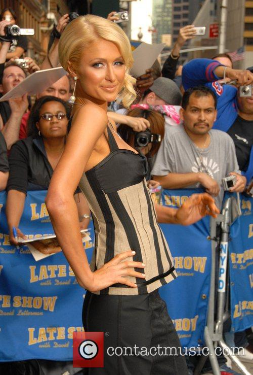Paris Hilton and David Letterman 3