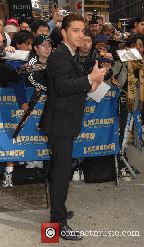Shia LaBeouf, David Letterman, Ed Sullivan Theatre