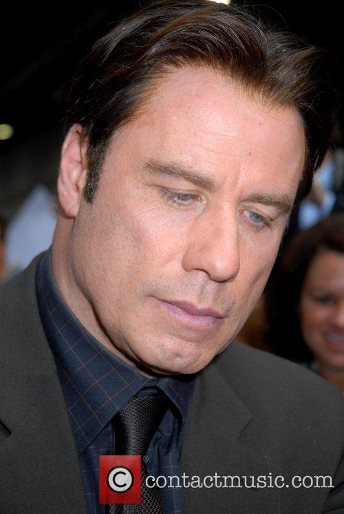 John Travolta at the Ed Sullivan Theatre appearing...