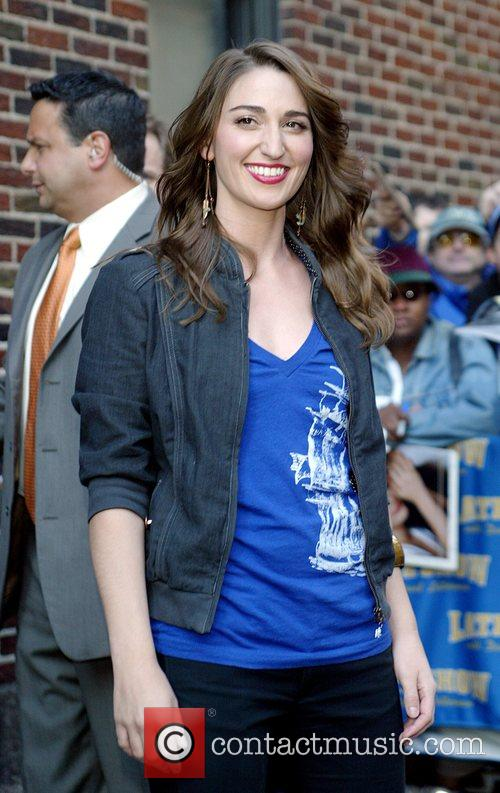 Sara Bareilles outside the Ed Sullivan Theatre for...