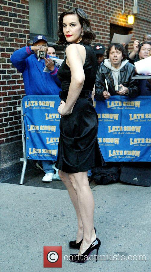 Liv Tyler and David Letterman 5