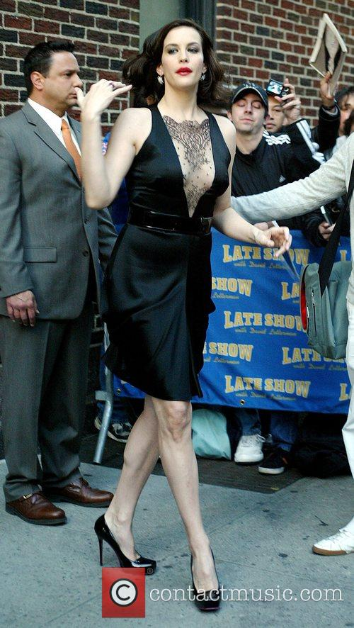 Liv Tyler and David Letterman 1