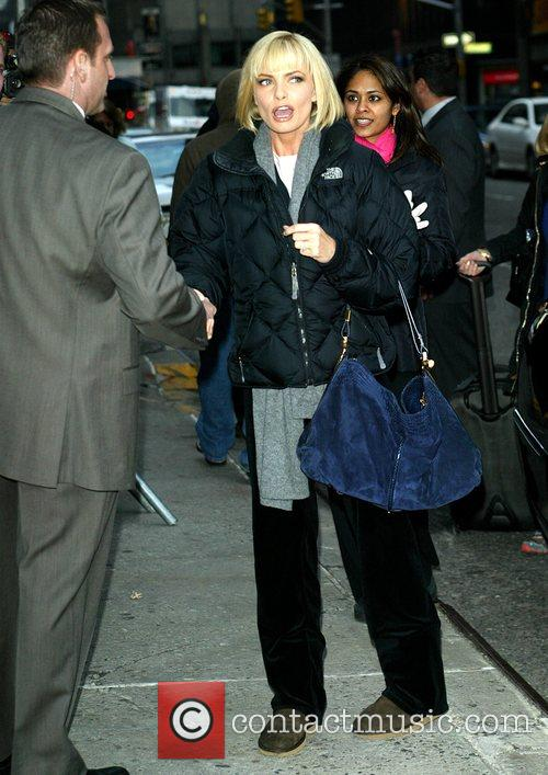 Jaime Pressly and David Letterman 4