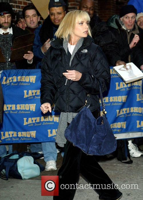 Jaime Pressly and David Letterman 1