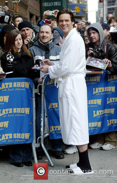 Jim Carrey and David Letterman 8