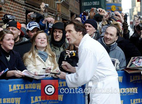 Jim Carrey and David Letterman 12