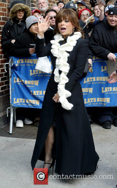 Paula Abdul and David Letterman 7
