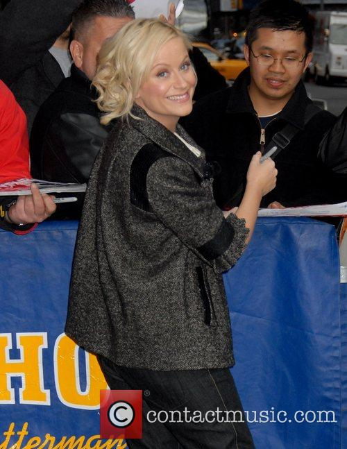 Amy Poehler and David Letterman 6