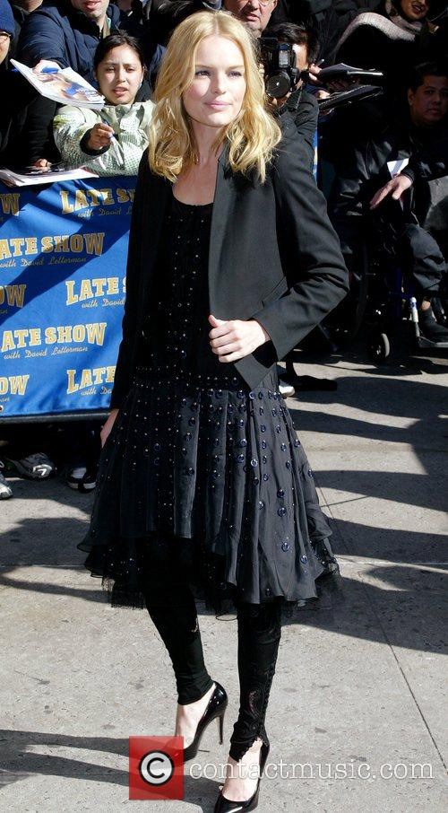 Kate Bosworth, David Letterman and Ed Sullivan Theatre 10