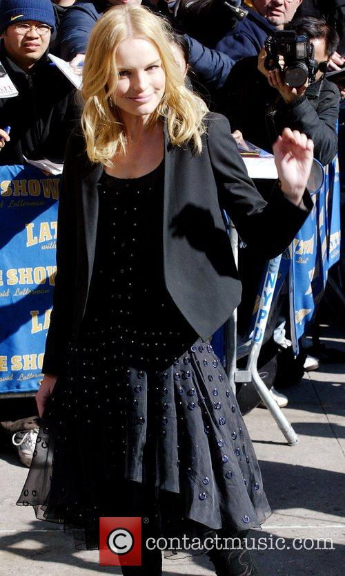 Kate Bosworth, David Letterman and Ed Sullivan Theatre 15