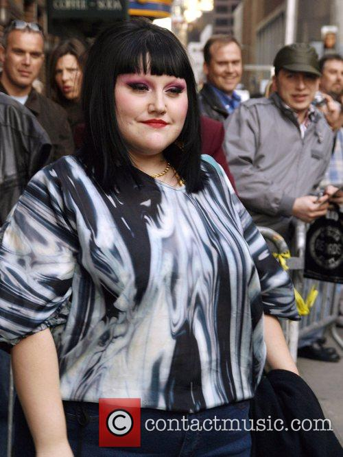 Beth Ditto and David Letterman 6