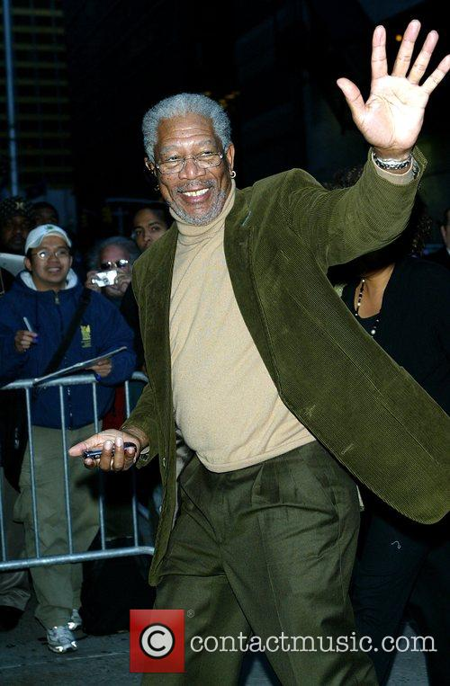 Morgan Freeman and David Letterman 2