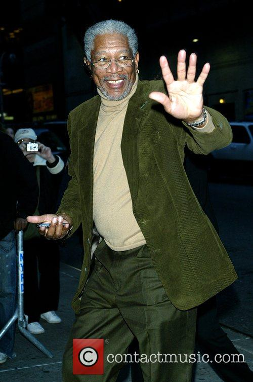 Morgan Freeman and David Letterman 5