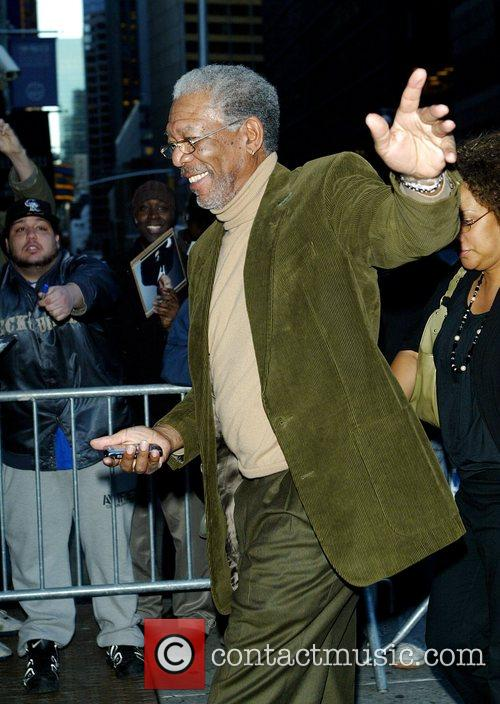 Morgan Freeman and David Letterman 3