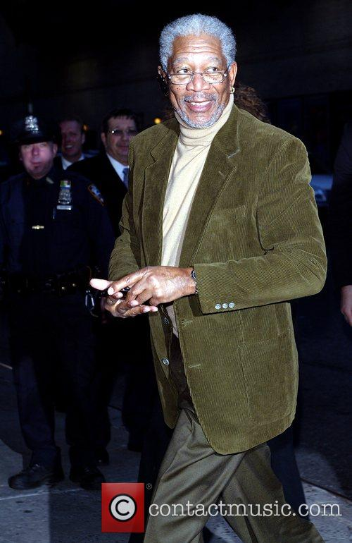 Morgan Freeman and David Letterman 1