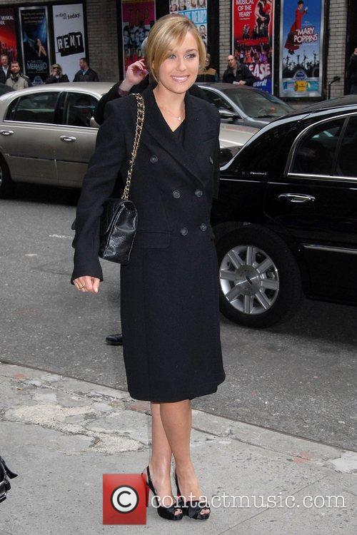 Lauren Conrad outside Ed Sullivan Theatre for the...