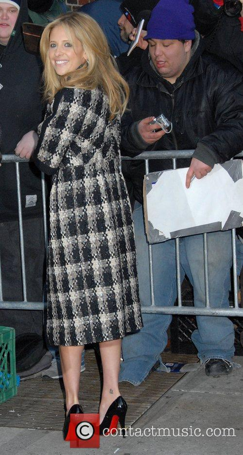 Sarah Michelle Gellar and David Letterman 7
