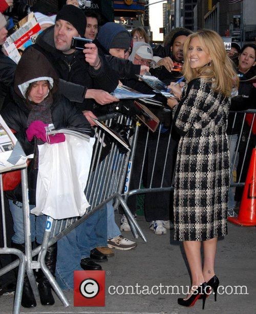Sarah Michelle Gellar and David Letterman 13
