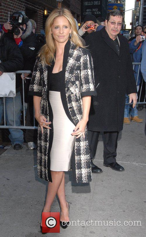 Sarah Michelle Gellar and David Letterman 31
