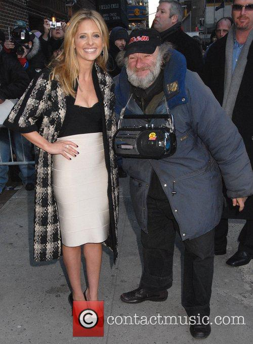 Sarah Michelle Gellar and David Letterman 14