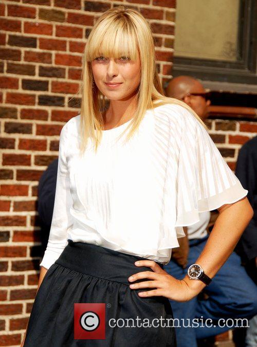 Maria Sharapova outside the Ed Sullivan Theatre for...