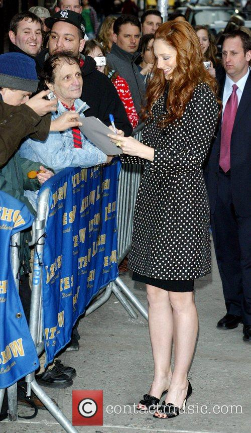 Judy Greer, David Letterman and Ed Sullivan Theatre 5