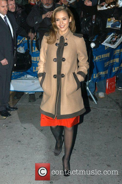 Jessica Alba and David Letterman 4