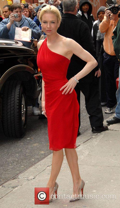Renee Zellweger and David Letterman 5
