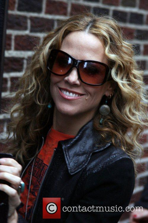 Sheryl Crow and David Letterman 2
