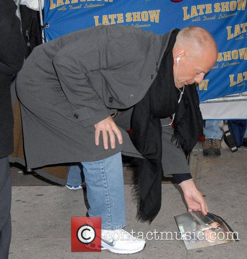 Bruce Willis and David Letterman 2