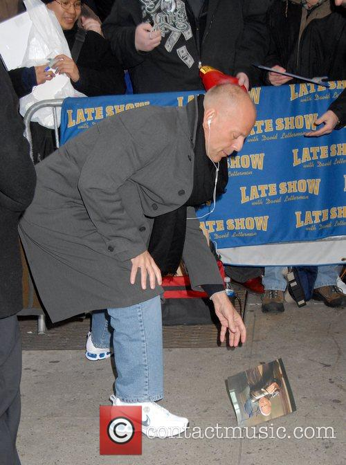 Bruce Willis and David Letterman 5