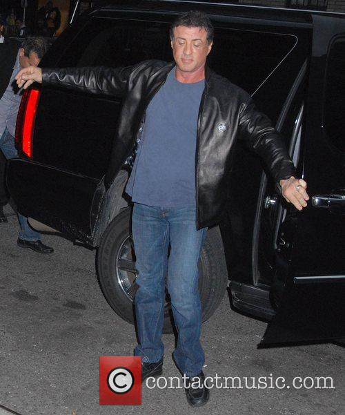 Sylvester Stallone and David Letterman 6
