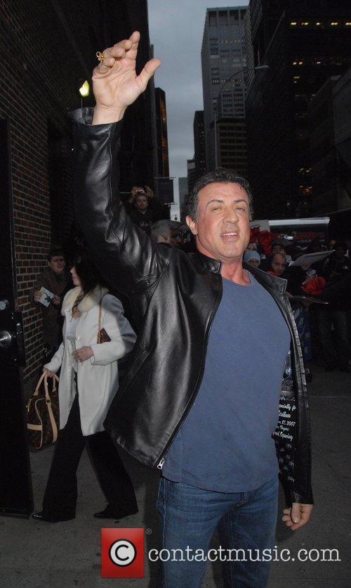 Sylvester Stallone and David Letterman 10