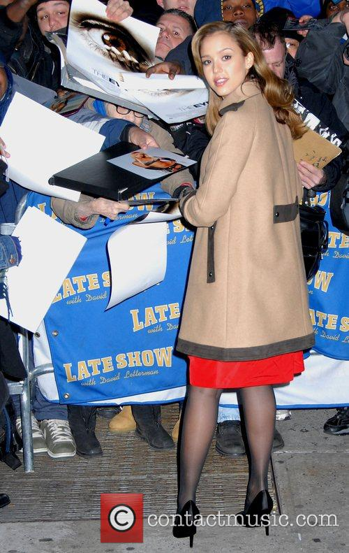 Jessica Alba and David Letterman 10