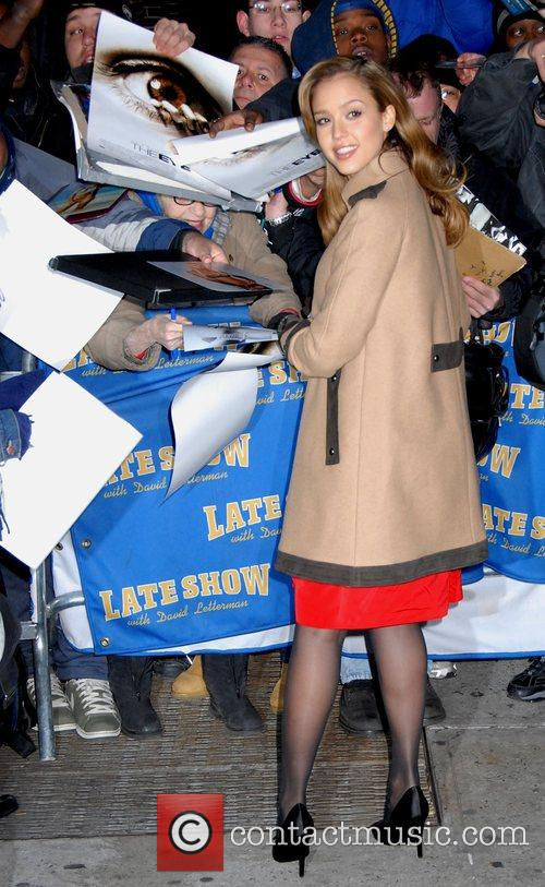 Jessica Alba and David Letterman 12