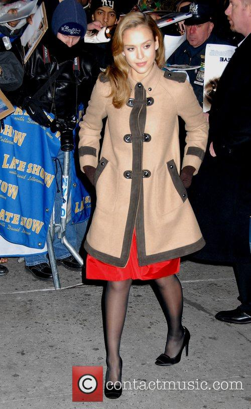 Jessica Alba and David Letterman 11