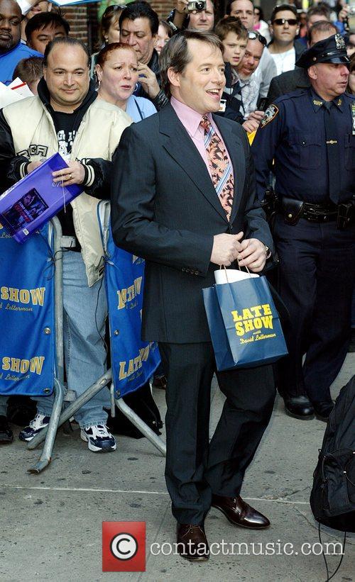 Matthew Broderick and David Letterman 11