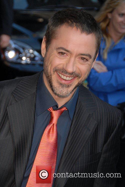 Robert Downey Jr. outside the Ed Sullivan Theatre...