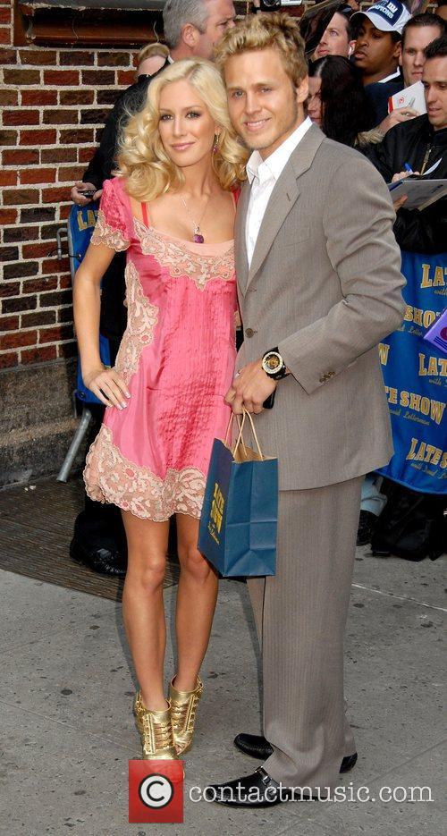 Spencer Pratt and Heidi Montag outside Ed Sullivan...