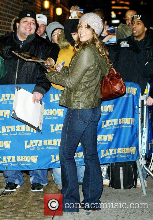 Colbie Caillat and David Letterman 1