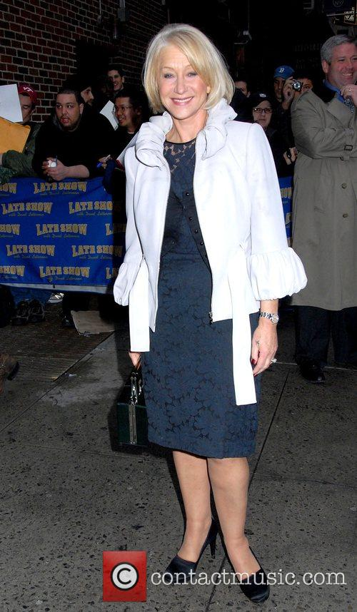 Helen Mirren and David Letterman 1