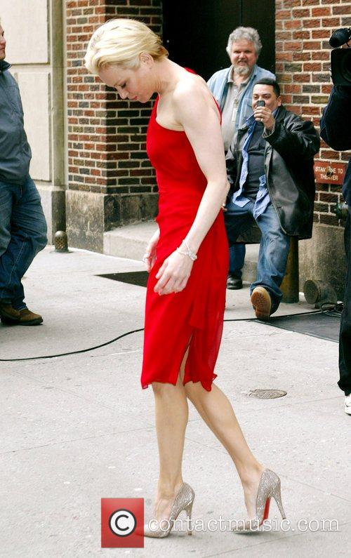 Renee Zellweger and David Letterman 11